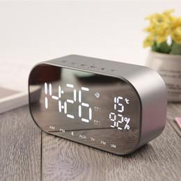 $enCountryForm.capitalKeyWord Australia - LED Alarm Clock with FM Radio Wireless Bluetooth Speaker Support Aux TF USB Music Player Wireless for Office Bedroom Digital Clock