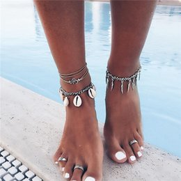 anklet NZ - New Bells Round Boho Anklet Foot Chain Ankle Summer Bracelet Charm Anklet Tassel Sandals Barefoot Beach Foot Bridal Jewelry G 20 styles ALXY