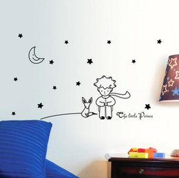 $enCountryForm.capitalKeyWord NZ - popular book fairy tale the Little Prince With Fox Moon Star home decor wall sticker for kids rooms baby child birthday gift toy