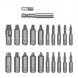Stud extractor online shopping - 22pcs Damaged Screw Extractor Drill Bits Guide Set Broken Speed Out Easy Out Bolt Stud Stripped Screw Remover Tool All Purpose