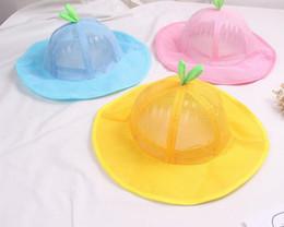 35f4389c7 Summer 2019 new children's sun hat children's grid fisherman hat boys and  girls breathable net hat 1-3 sun hats