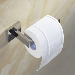 $enCountryForm.capitalKeyWord NZ - SUS 304 Stainless Steel Toilet Paper Holder Bathroom Toilet Holder For Roll Paper Towel Square Bathroom Accessories