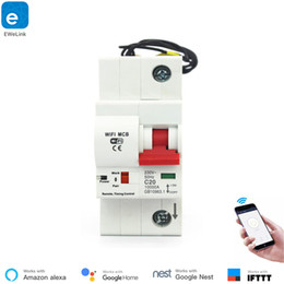 Time delay locks online shopping - eWeLink P A A Remote Control Timing Switch Delay Set Function Automatic Lock Intelligent Recloser Wifi Circuit Breaker