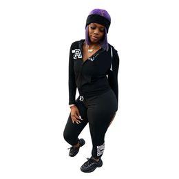 Wholesale Ski Suits Australia - P Letter Women Casual Tracksuit 2 Piece Set Hoodie and Pants Women Outfit Sweatsuits Gym Sports Suits Clothes