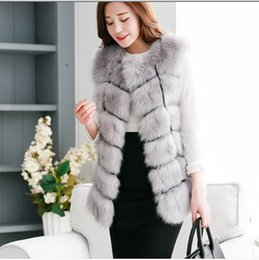 women mink fur vests 2019 - Vetement femme 2019 Style Formal Workwear Fluffy Long Female Faux Fur Vest summer Winter Fluffy Women Mink Coat Vest V68
