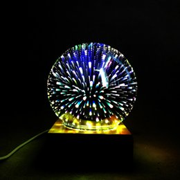 magic power ball UK - Magic Ball Colorful glass ball lamp 3d Starry Sky Night light USB power For kids Bedroom Decoration Christmas light gifts