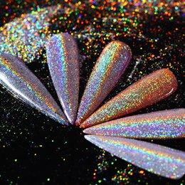 Shining Dust Glitter Australia - glitter BORN PRETTY Holo Rainbow Glitter Holographic Laser Chrome Nail Art Dust Pigment Powder Super Shine Hologram Paillettes