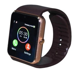 $enCountryForm.capitalKeyWord Australia - GT08 Bluetooth Smart Watch Support TF SIM card with Passometer Camera Call Smartwatch For IOS Android Phone Sport Pedometer
