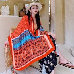 $enCountryForm.capitalKeyWord Australia - Summer cotton and linen national wind scarf sunscreen shawl long silk scarf female Nepal scarf shawl seaside beach towel