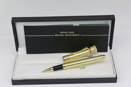Stationery Australia - Top grade Swan King Roller pen Metal Gold color with Gold Trim Monte Collection pens stationery school office supplies