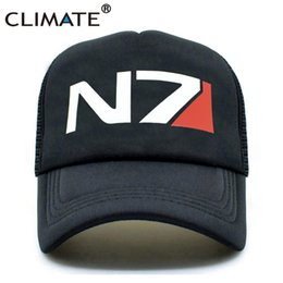 $enCountryForm.capitalKeyWord Australia - CLIMATE EFFECT N7 Cap Men N7 Logo MASS Trucker Caps EFFECT Game Cool Summer Caps Baseball Mesh Net Trucker Hat for Men