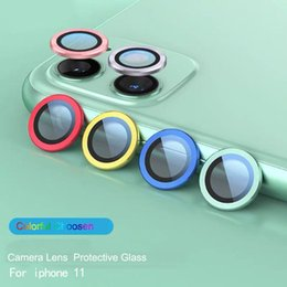3d camera lens Canada - 3D Full Cover Camera Lens Screen Protector Case for iPhone 11 Pro Max Camera Protective Tempered Glass + Protection Metal Ring