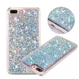 Star Water Case Australia - Quicksand Liquid Diamond Hard Plastic PC Case For Iphone X XS 8 7 I7 Iphone7 6 Plus 6S Bling Glitter Gold Foil Star Phone Skin Cover