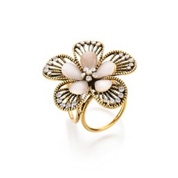 $enCountryForm.capitalKeyWord UK - Real Shooting Vintage Crystal Flowers Brooches For Women Camellia Boutonniere Opal Tricyclic Scarf Buckle b182