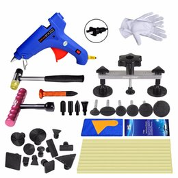 paintless dent repair tools glue Australia - tool kit Super PDR Paintless Car Repair Tools glue Puller glue gun tabs 20pcs Red T-bar dent removal tools kit