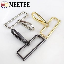 $enCountryForm.capitalKeyWord NZ - Meetee wholesale 50mm Metal Bag Buckle Dog Collar Swivel Trigger Clips Clasp Hook Key Rings Snap Hook Hardware Accessories F2-10