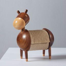$enCountryForm.capitalKeyWord Australia - Wooden crafts decorative ornaments Solid wood toilet paper Cartoon little donkey roll holder Wooden paper towel holder