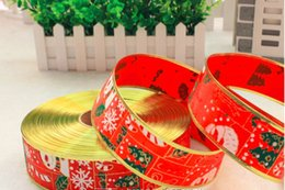Baby Satin Hair Clips Australia - Christmas Grosgrain Ribbon Holiday Ribbon Satin Fabric Ribbon Set For Package Gift Wrapping Hair Bow Clips Accessories Sewing Baby Shower