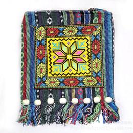Boho Shoulder Bags Australia - Thai Indian Hmong Boho Hobo Ethnic Embroidered Shoulder Messenger Sling Bag