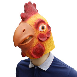 Halloween Party Latex Mask Australia - cock Rooster Latex Masks Movie Cosplay Adult Animal Party Mask kitty Realistic Masquerade Prop Fancy Dress Party Halloween Mask