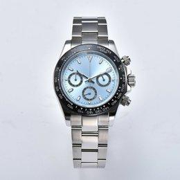Мужские роскошные товары Лучшее качествоКронограф кварцевые часы сапфировое стекло 39 мм светящийся черный керамический ободок K-1 на Распродаже