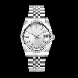Stainless Steel Unisex Luxury Watches Australia - Luxury Orologio di lusso Mens Watch White Dial 36MM Automatic Mechanical Stainless steel strip Orologi da Uomo Women Mens Watch Watches