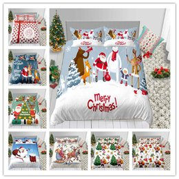 $enCountryForm.capitalKeyWord Australia - Merry Christmas Santa Claus Bedding Set High Quality Duvet Cover Single Twin Full Queen King Size Holiday Gifts Bed Sheet
