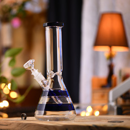 $enCountryForm.capitalKeyWord NZ - Big Bottle Vase Glass Straight Art Bongs Smoking Water Pipe Smoke Hookah Sets Blue Strip Design