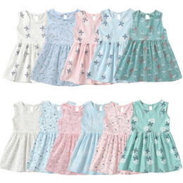 Years girls dressing stYle online shopping - 2019 Kids Girl Sleeveless Dress Years Summer Girls Prined Flower Dresses Children Clothes Baby Cotton Princess Dress Outfits