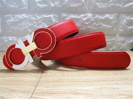 $enCountryForm.capitalKeyWord Australia - Fashion Casual Belts High Quality Luxury Casual Belt Smooth Buckle Men Jeans Belt Women Shorts Dress Red Girdle Leather White Belts