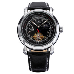 Big Case Wrist Watches Australia - Trendy Design Men Metal Case Wrist Watch Big Round Dial Casual Business Style Mechanical Watches Best Gift HOT SALE