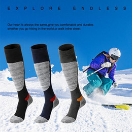 warmest thermal socks UK - Winter Warm Men Women Thermal Long Ski Socks stockings Thicken Sports Snowboard Climbing Camping Hiking Socks footwear