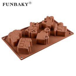 Discount big cake silicone mold - FUNBAKY 6 Cavity Train Car Cake Decorating Tools Silicone Mold Big 3D Decorations Silicone Cake Mold Bakware for