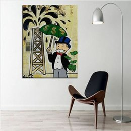 $enCountryForm.capitalKeyWord NZ - Alec Monopoly Banksy Oil Painting On Canvas Home Decor Wall Art Picture Handpainted & HD Printed Graffiti art wall decor Oil Money