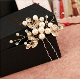 Wholesale New Women Wedding Hair Accessories Pearl Headpiece Hair Pin Floral Bridal Bridesmaid Beautiful Headdress Vine Party Gift Jewelry
