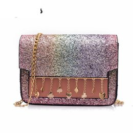 Multi Color Ladies Handbags Australia - New Arrival Messenger Chic Leather Flap Sequined Tassel Shoulder Bag For Women Chain Crossbody Bag Ladies Fashion Handbag