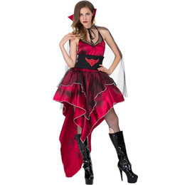 df5453c14 Adult Women Vampire Costumes Deluxe Red Vampire Queen Princess Cosplay Sexy Clothing  Halloween Carnival Party Fancy Dress