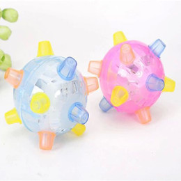 Strange Ball NZ - Creative children's luminous toys wholesale Colorful lights flashing jumping ball new strange music dancing ball toys