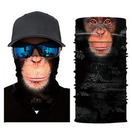 Discount head bicycles - 3D Animals Mask Cycling Bicycle Bike Motorcycle Head Scarf Neck Warmer Face Mask Ski Balaclava Headband Lower Half Face