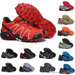 plastic army men UK - casual Speed Cross country 4 CS IV Men Running Shoes Outdoor Walking Jogging Sneakers Athletic Shoes SpeedCross 4 Fencing Shoes eur 40-46