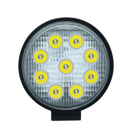 Chinese  27W 2700LM IP68 Waterproof Round LED Strip Work Light Bar Refit Off-road Light Roof Strip Lamp Vehicle ATV SUV manufacturers