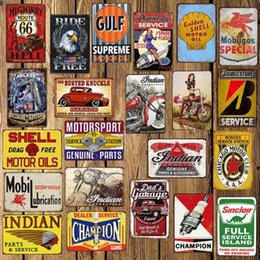 car plaque 2019 - Tin Signs USA Vintage Metal Tin Signs Route 66 Car Number License Plate Plaque Poster Bar Club Wall Garage Home Decorati