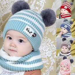 $enCountryForm.capitalKeyWord NZ - Winter Kids Fox Ears Handmade Beanie Hat Scarf Sets for 1~10 Year Old Children Girls Scarves #6