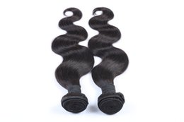 Jet Black Body Wave Hair Australia - The Fashion Jet Black Color Brazilian Virgin Body Wave 10-30 Inchs Double Weft Remy Hair Weaving 100% Human Hair Weave