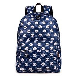 2019 new fashion Shoulder bag female small fresh panda print backpack high  school student college student water repellent canvas backpack fc6fcc4beaa23
