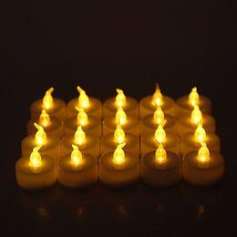 $enCountryForm.capitalKeyWord Australia - 24pcs Flameless Electronic Led Candle Flickering Tealight Night Light Home Decor Q190529