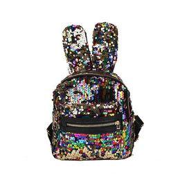Baby Girls Rabbit ears Backpacks Cartoon Sequin Kids Mini bunny Shoulders  bag Boutique fashion travel Purse Handbag 6 colors 5227232669
