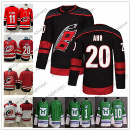 2019 Carolina Hurricanes  20 Sebastian Aho Black Third Hockey Jersey Red 10  Ron Francis Hartford Green Whalers 1 Mike Liut White Blank a41b01751