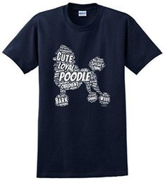 $enCountryForm.capitalKeyWord Canada - Tee Shirt Hipster Harajuku Brand Clothing T Shirt Poodle Word Art Dog Puppy Owner Gift Short Sleeve Printed Tee For Men