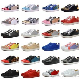 Discount sky blue dress shoes for men - Christmas Gift Junior Sneakers Shoes For Women,Men Luxury Dsigner lOW Top Red Bottom Casual Shoes Designers Party Dress